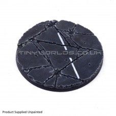 130mm Round Urban Rubble Resin Base