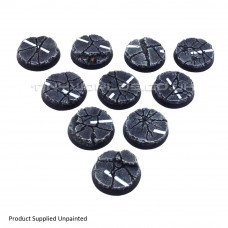 32mm Round Urban Rubble Resin Bases