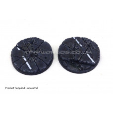 55mm Round Urban Rubble Resin Bases