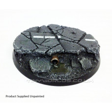 60mm Round Urban Rubble Resin Base A