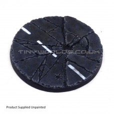 80mm Round Urban Rubble Resin Base