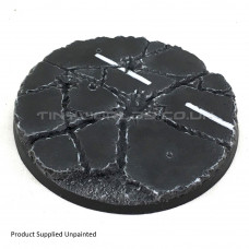 90mm Round Urban Rubble Resin Base