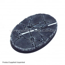 105mm x 70mm Medium Oval Urban Rubble Resin Base - A