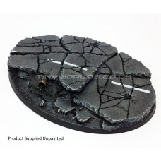 120 x 90mm Large Oval Urban Rubble Resin Base