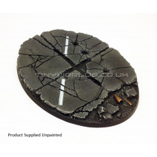 Large Oval Urban Rubble Resin Base 120 x 90mm  - Flyer