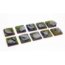 20mm Rock Scenic Wargaming Resin Bases x10