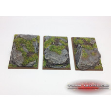 50mm x 75mm Rocky Slate Monstrous Cavalry Resin Bases