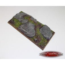 100mm x 50mm Rocky Slate Resin Chariot Display Base 2
