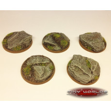 40mm Round Rock / Slate Scenic Resin Bases