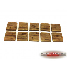25mm Wooden Plank Wargaming Resin Bases