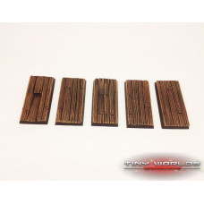 25mm x 50mm Cavalry Wooden Plank Wargaming Resin Bases