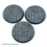 50mm Round Paved Dungeon Resin Bases