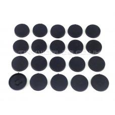 20mm Round Black Plastic Slotta Bases