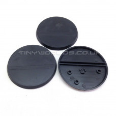 60mm Round Black Plastic Bases