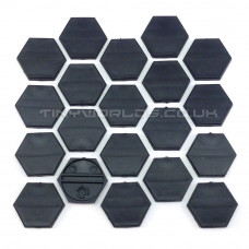 30mm Hexagonal Black Plastic Bases