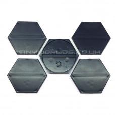 50mm Hexagonal Black Plastic Bases