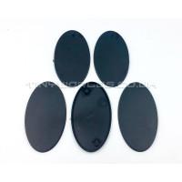 75mm Oval Black Plastic Bases