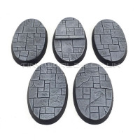 60mm x 35mm Small Oval Paved Dungeon Resin Bases