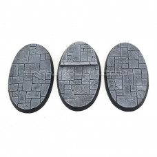 Small Oval Paved Dungeon Resin Bases 75 x 46mm