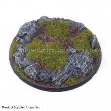 130mm Round Rock / Slate Scenic Resin Base