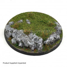 90mm Round Rock / Slate Scenic Resin Base
