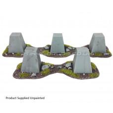 Dragons Teeth Tank Traps + Bases Set - Intact