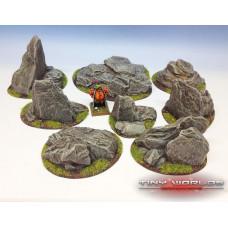 Rocky Outcrops Resin Scenery Set